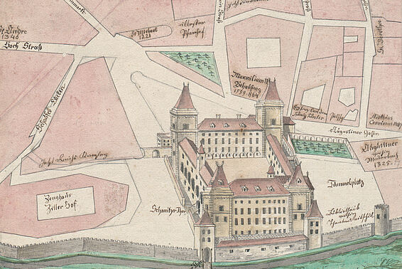 Hofburg, around 1800