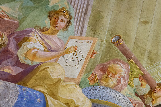 Augustinian Reading Room, detail fresco