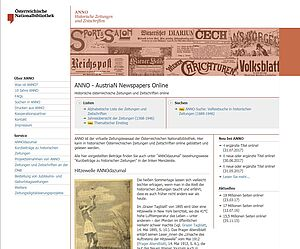 Digital newspaper portal ANNO
