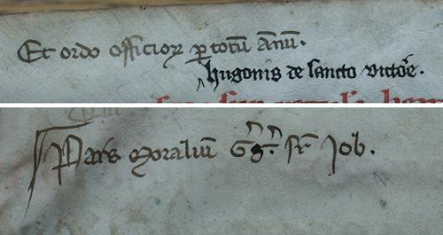 Notes by a Salzburg librarian in the 14th century