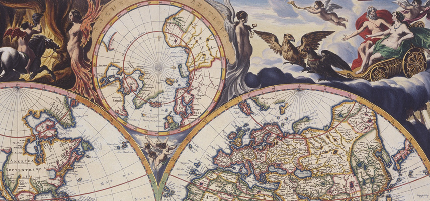 Map of the world, Jan de Visscher